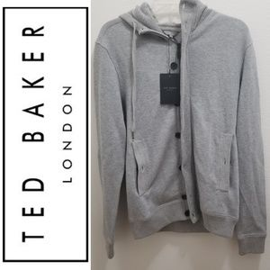 (NWT) TED BAKER Gray Knitted Cardigan Hoodie